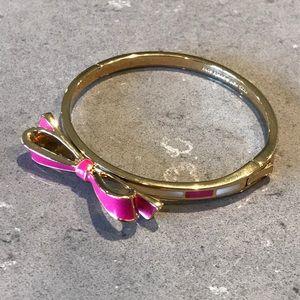 🆕Kate Spade Bow Bracelet in Pink/ White Stripe